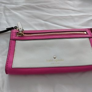 Kate Spade pink and white wallet